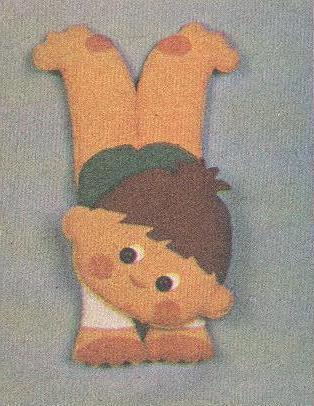 Выкройка мягкой игрушки гимнаст