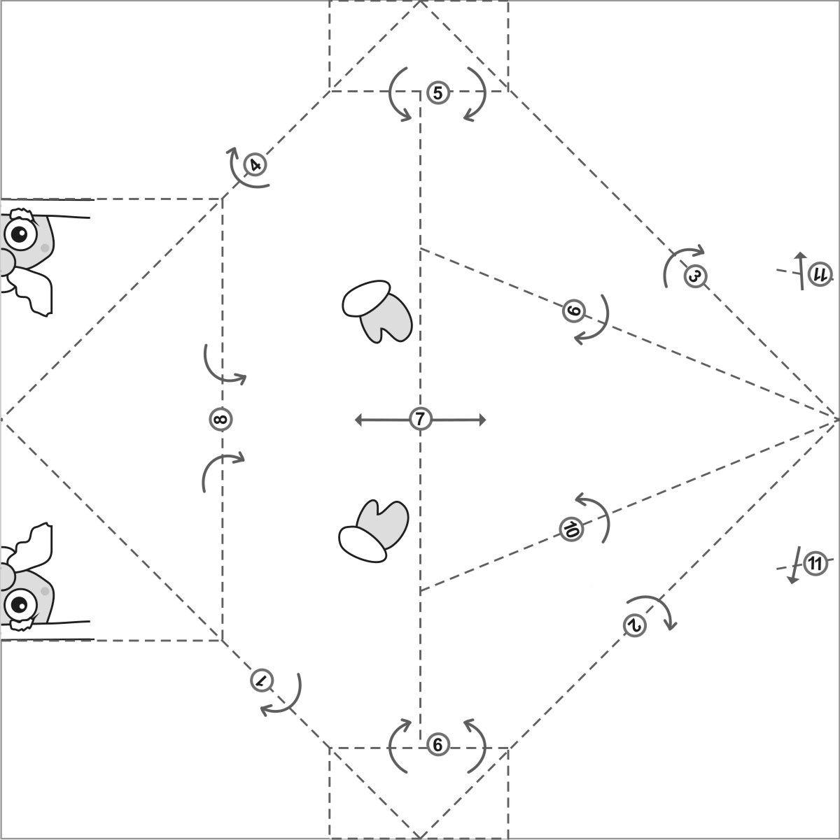 Подробная пошаговая инструкция по изготовлению деда мороза из бумаги.