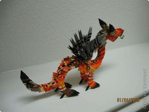 Простой дракон с крыльями из