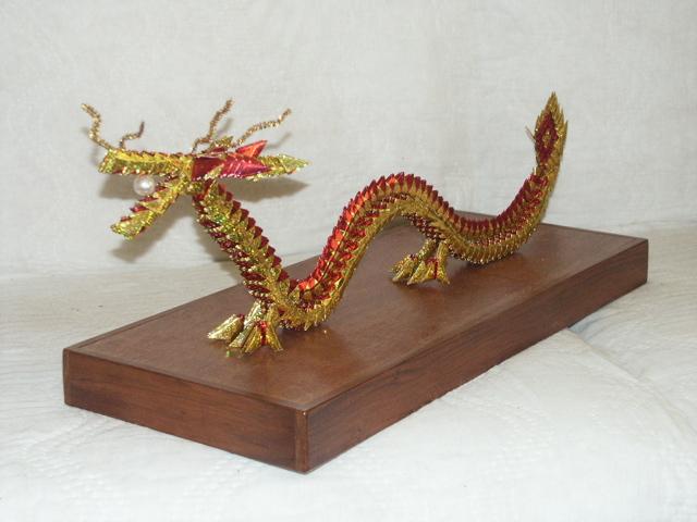Модульный дракон из бумаги