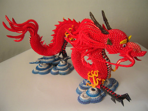 Модульный оригами дракон схема.