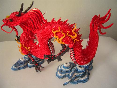 без клея такого дракона