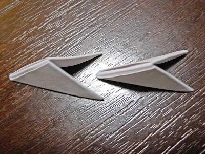 Схема сборки оригами красного лебедя