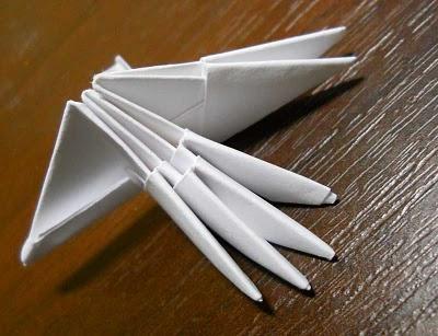 модульное оригами схема сборки павлина - Лучшее о бисере.
