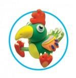 Как слепить попугая из пластилина или массы для лепки - пошаговая схема и мастер класс