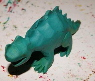 Как слепить динозавра из пластилина