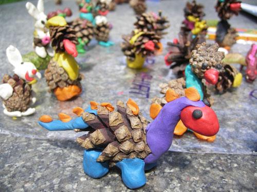 Пошаговый мастер-класс как слепить динозавра из пластилина