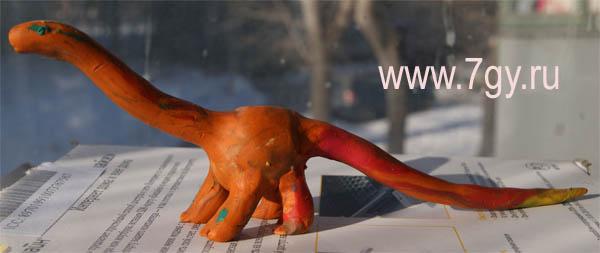 Как слепить динозавра из пластилина мастер-класс