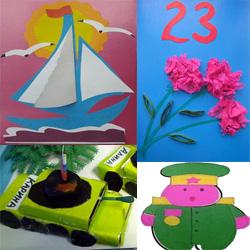 Поделки на 23 февраля дома и в детском саду