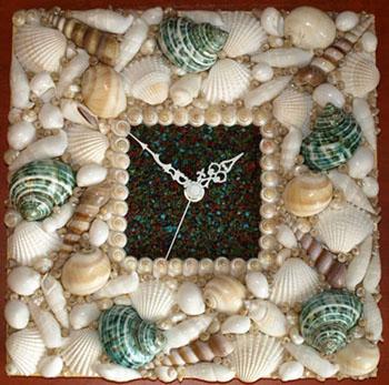 Поделки из песка и ракушек