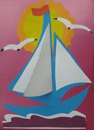 Шаблоны аппликации кораблики для детей