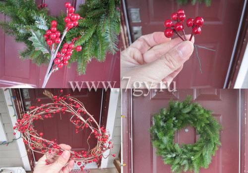 Ветки для рождественского венка своими руками