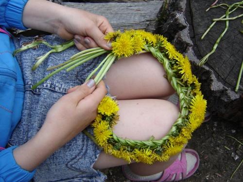 Венок из полевых цветов для девочки.