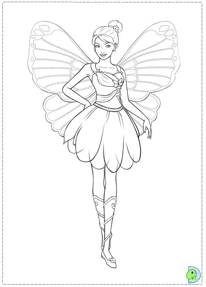 Раскраски фея с крыльями