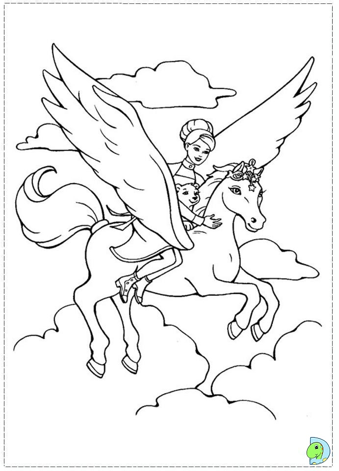 free coloring pages flying horses - photo#9