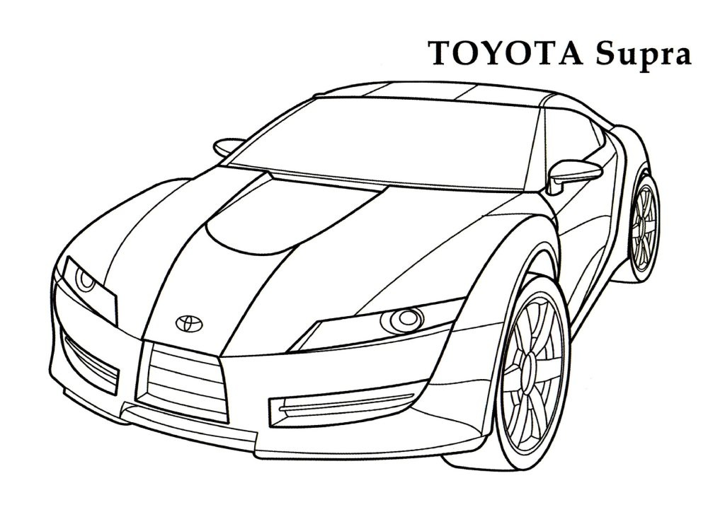 toyota coloring pages to print - photo#28