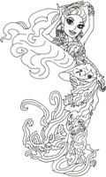 Раскраски Монстр хай (Школа монстров) распечатать, скачать