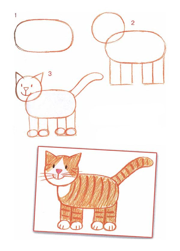 Рисуем кошку с ребенком