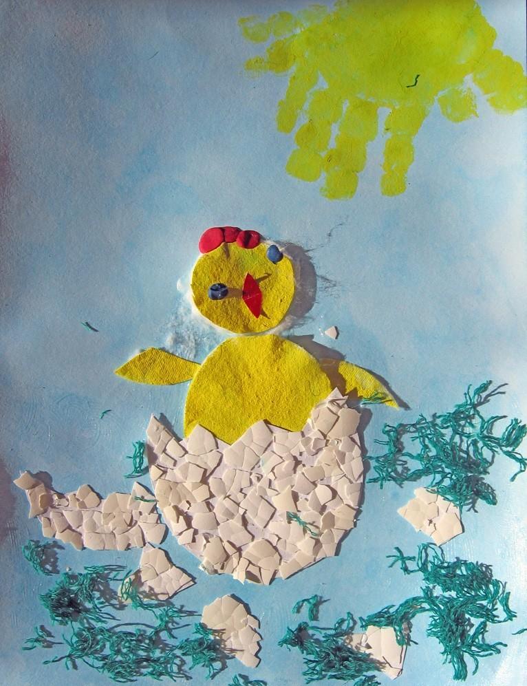 Конспект поделки из яичной скорлупы