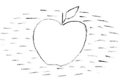 Ёж несет яблоко